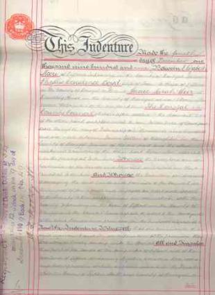 Legal Deed 1909