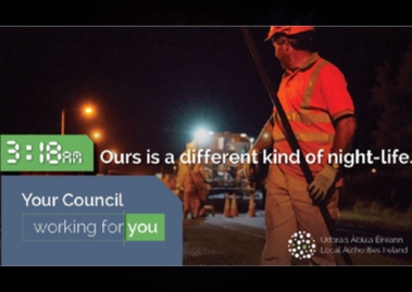 night time road works Your Council
