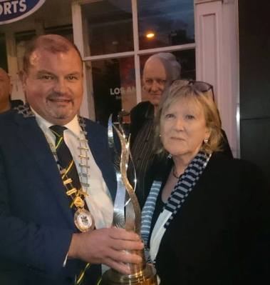 Cathaoirleach with Anne McGowan