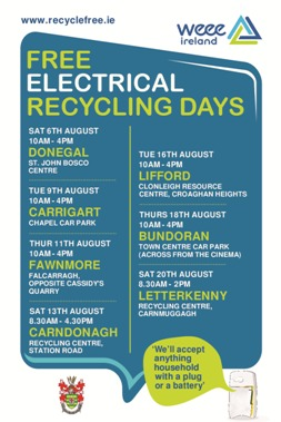 Free WEE Recycling Days 2016
