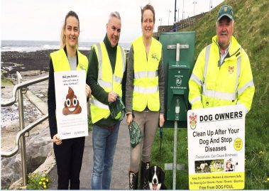 Bundoran Tidy Towns launch anti dog-fouling 2017