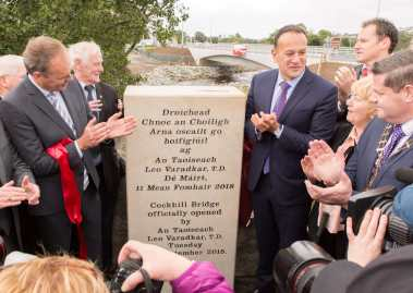 Cockhill bridge unveiling