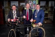 L-R. Mayor of Derry & Strabane District, Maolíosa McHugh, Shane Ross, Minister for Transport, Tourism and Sport, and Cathaoirleach of Donegal County Council, Gerry McMonagle