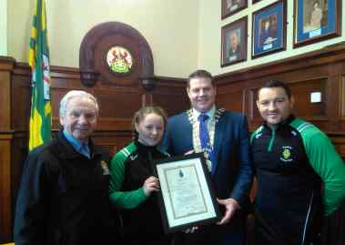 Raphoe Boxing Club - Scroll from Sheriff of Worcestershire 379x269