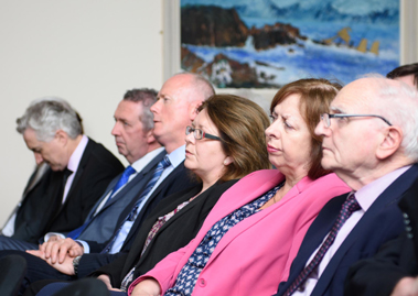 Members of the audience who attended the Cathaoirleach's Reception in honour of Dr. Peter FitzGerald founder and Managing Director of Randox held on Tuesday in the Dungloe Public Service Centre.