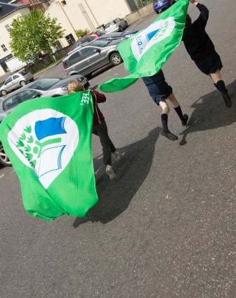 Green Flags flying 20th Anniversary of Green-Schools Celebrated in Donegal
