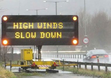 Road Safety Alert Yellow Weather Warning Issued for Strong Winds